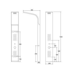 Схема на душ панел Bianco