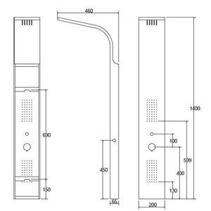 Схема на хидромасажен панел Nero A7304B