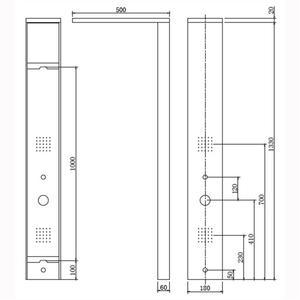 Схема на хидромасажен панел Erato S9221