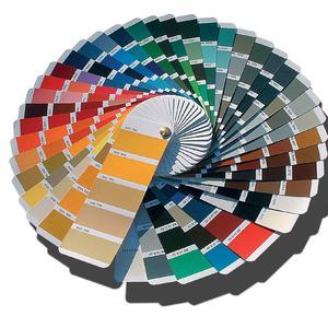 палитра с цветове за покритие на шкафовете за баня  RAL