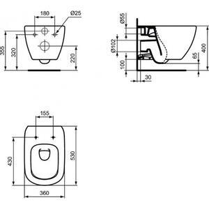 Конзолна тоалетна чиния Tesi AquaBlade T0079V3