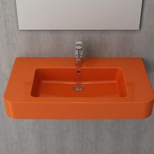 Мивка за стена или плот Bocchi Scala Pro - оранжев гланц