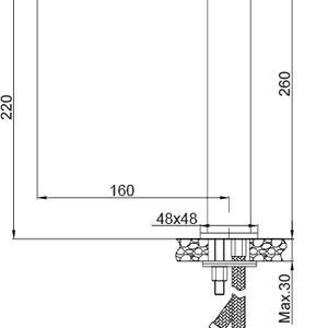 Схема на смесител за мивка тип купа BOLD 01ALP120CR