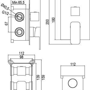 Схема на смесител за вграждане BOLD