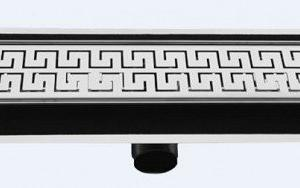 Подов лентов сифон Двойно Версаче- неръждаема стомана с хидроизолационен фланец и регулиращи планки