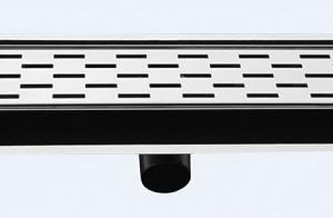 Подов лентов сифон Правоъгълници- неръждаема стомана с хидроизолационен фланец и регулиращи планки