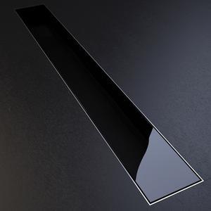 Подов лентов сифон Черно стъкло