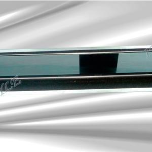 Подов лентов сифон Черно стъкло с фланец и планки