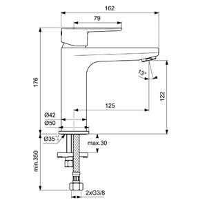 Схема на смесител H120 CERAFINE O BC554XG
