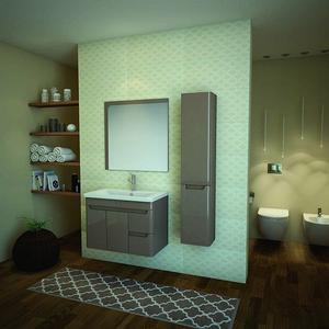 PVC Комплект за баня Wave 80см.