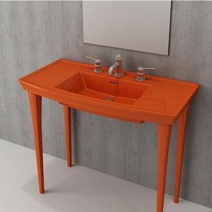 Мивка с плот Bocchi Lavita 100см - оранжев гланц