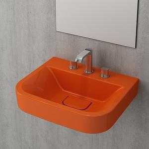 Мивка за стена или плот Bocchi Scala Tech - оранжев гланц