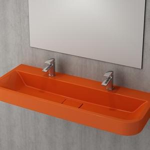 Мивка за стена или плот Bocchi Scala Tech 120 см - оранжев гланц