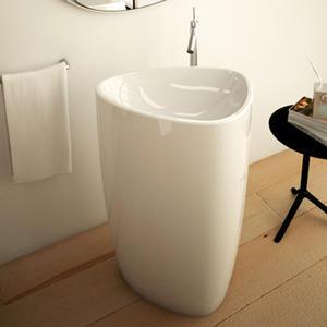 Стояща мивка Bocchi Etna бял гланц 58см.