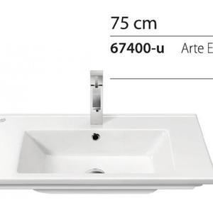 Мивка за вграждане в плот Arte 75см.