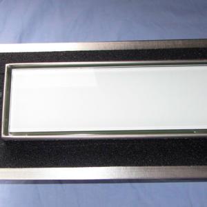 Подов лентов сифон Бяло стъкло с фланец и планки