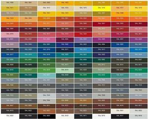 Цветове по RAL