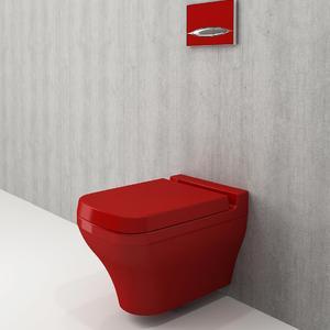 Bocchi Scala Arch- червен гланц конзолна тоалетна чиния