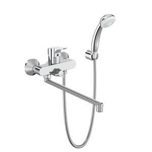 Смесител стенен за вана/душ с дълъг чучур и аксесоари SevaNext B1926AA