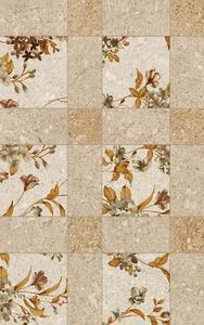 5984 Декор цветя бежов