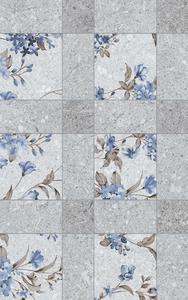 5983 декор цветя сив