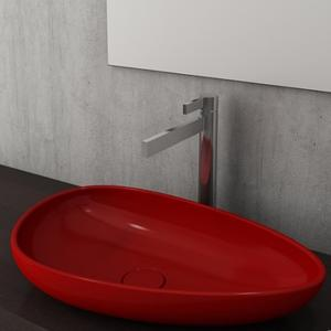 Мивка за монтаж върху плот Bocchi Etna 58 см, цвят-червен гланц