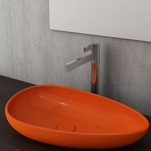 Мивка за монтаж върху плот Bocchi Etna 58 см, цвят-оранжев гланц
