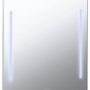 Огледало за баня с LED осветление и часовник 60х80см