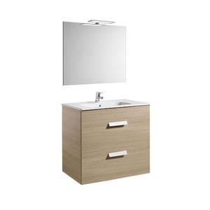 Комплект мебели за баня Debba в цвят сиво дъб - 80 см.