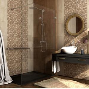Плочки за баня Amberia Brown 25x40