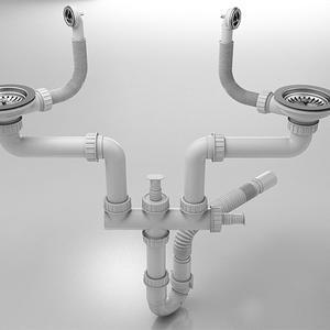 Кухненска мивка Фат 233 с две корита. Полимермрамор