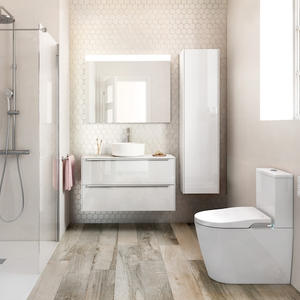 Порцеланов Smart моноблок с биде и двойно оттичане Inspira In-Wash