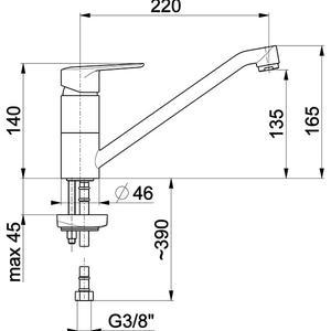 Схема на смесител за кухня German