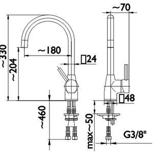 Схема на смесител за кухня Omega