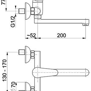 Схема на смесител за кухня Leonit