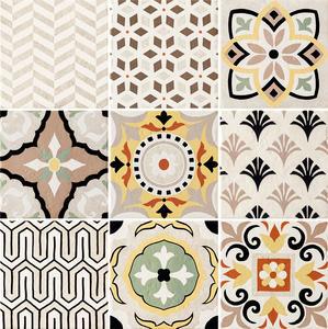 Prowansja ivory patchwork  фаянс сет от 9 части