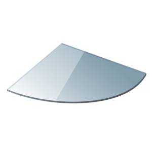 Полица ъглова 20см. прозрачно стъкло 0620