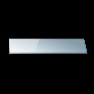 Полица 40 см. прозрачно стъкло 0640