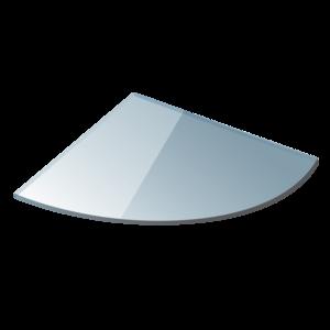 Полица ъглова 25см. прозрачно стъкло 0625