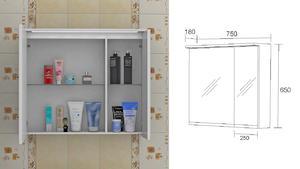Горен шкаф за баня Флорида