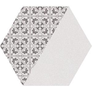 Гранитогрес Lugano Hex gris 22.5x25.9
