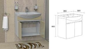 Долен шкаф за баня Каролина