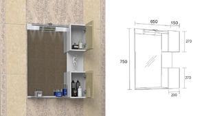Горен шкаф за баня Каролина