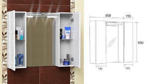 Горен шкаф за баня Колорадо