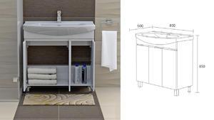 Долен шкаф за баня Мичиган