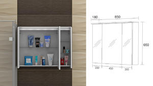 Горен шкаф за баня Мичиган