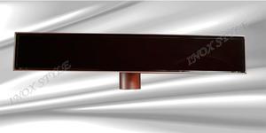 Подов лентов сифон с черно стъкло