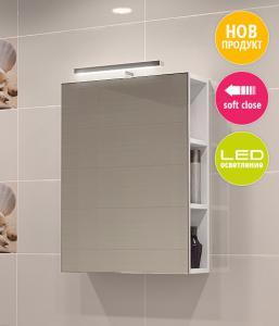 PVC шкаф Изи горен с огледало