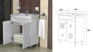 Долен скаф за баня Сити