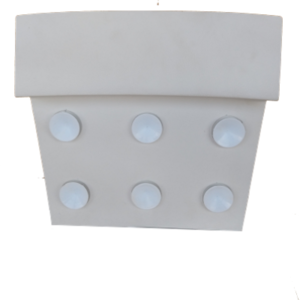 Възглавничка ваккум бяла